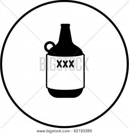 primitive liquor container symbol