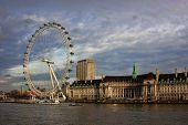 London Eye in London City, United Kingdom. As seen on January 18th, 2014.