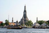 Wat Arun,The Chao Phraya river,Bangkok