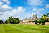 picture of church-of-england  - Merton College with chapel - JPG