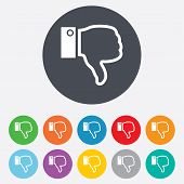 image of dislike  - Dislike sign icon - JPG