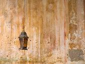 picture of church interior  - Incense in Greek orthodox church hanging at the wall - JPG