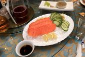 Plate With Salmon Sashimi