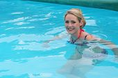 Cheerful Woman In Swimming-pool