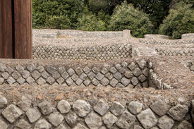 image of spqr  - The new works on the Roman Forum ruins in Rome - JPG