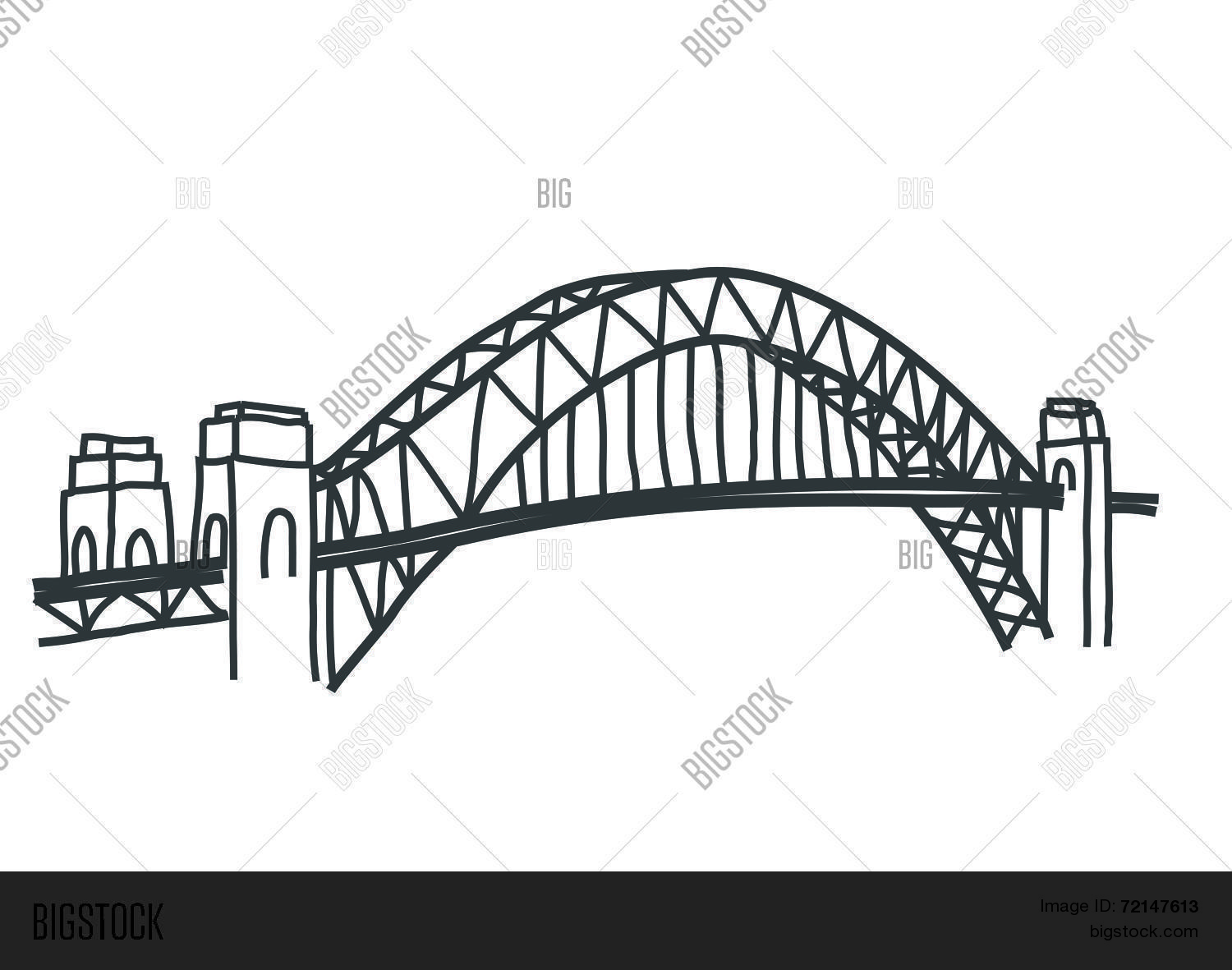 simple bridge drawing wwwpixsharkcom images