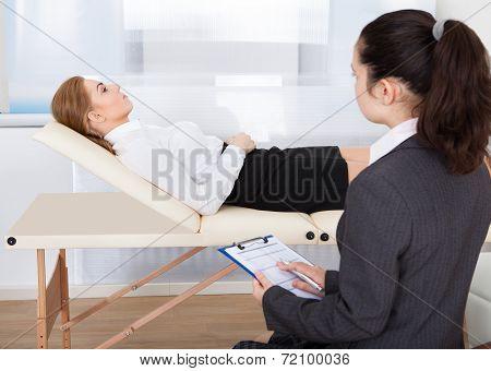 Psychiatrist Examining Patient