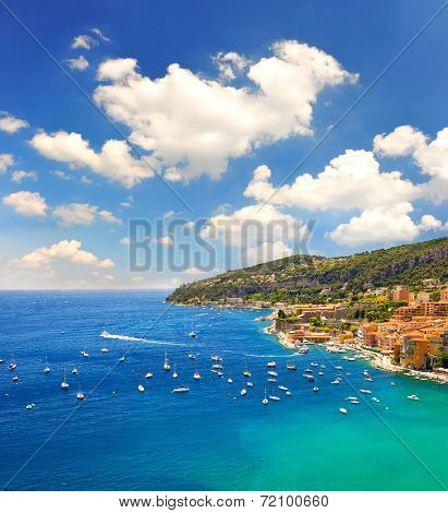 French Riviera, Mediterranean Sea. Villefranche By Nice