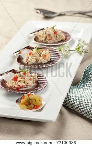 Tuna Salad And Diced Pickles.