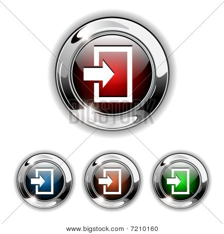Enter icon, button, vector illustration.