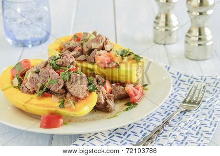 Steak Poke Papaya