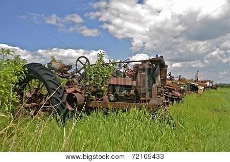 Tractor in the brush