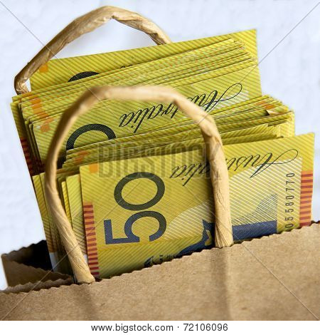 Bag of Australian Notes
