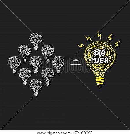 small idea make big idea concept design vector