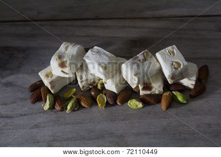 Nougat on a Table