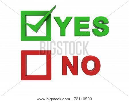 Choosing yes