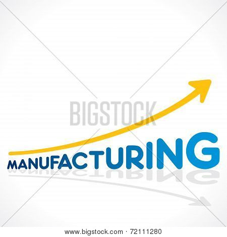 creative manufacturing word growth graph design vector
