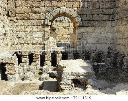 Remaining of  Roman bath of Perge