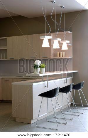 Modern kitchen interior design.