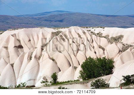 Volcanic rock landscape Goreme Cappadocia Uchisar Turke