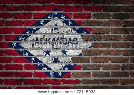 Dark Brick Wall - Arkansas