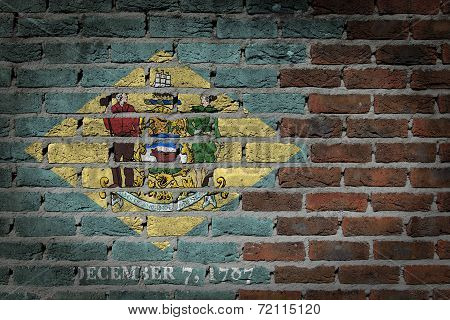 Dark Brick Wall - Delaware