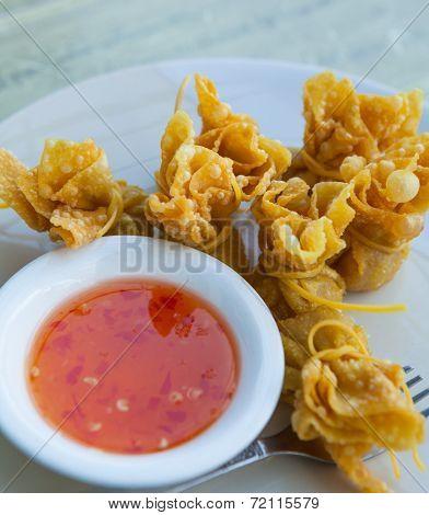 Wonton Oriental Deep Fried Wontons Filled