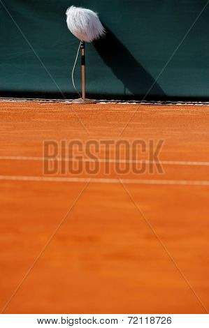 Professional Microphone On A Tennis Court