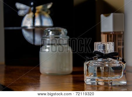 Perfume Bottle In The Bedroom