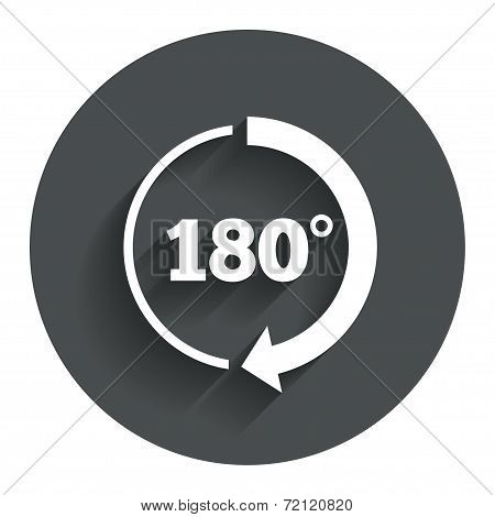 Angle 180 degrees sign icon. Geometry math symbol
