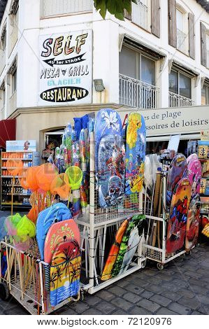 Beachwear Shop In The Town Of Saintes-maries-de-la-mer