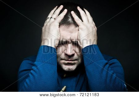 Portrait of a frustrated young man
