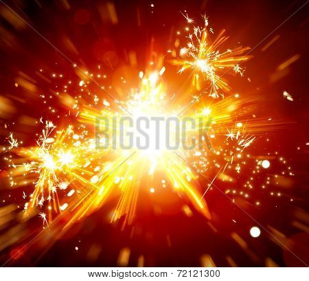 Abstract Christmas Star Light  Background