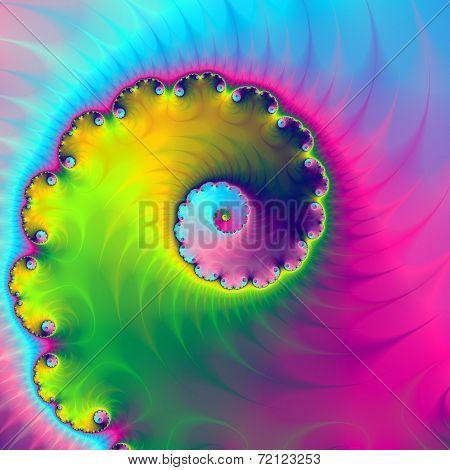 Color Wash Spiral