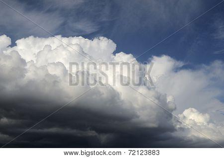 Cumulus Clouds Illuminated By The Sun