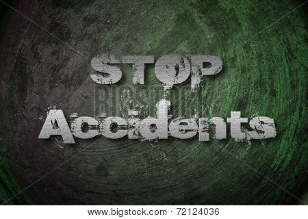 Stop Accidents Concept