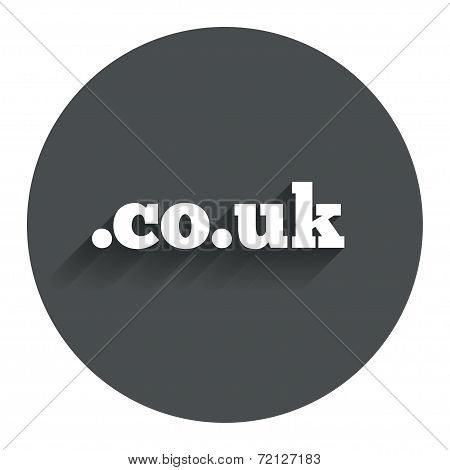 Domain CO.UK sign icon. UK internet subdomain