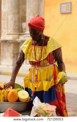 Seller Of The Fruits In Cartagena