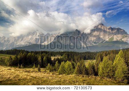 Morning View From Dolomiti Di Sesto