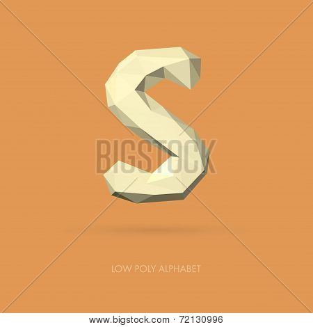 Low Poly Alphabet Letter S