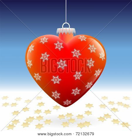 Christmas Ball Heart Snow Stars