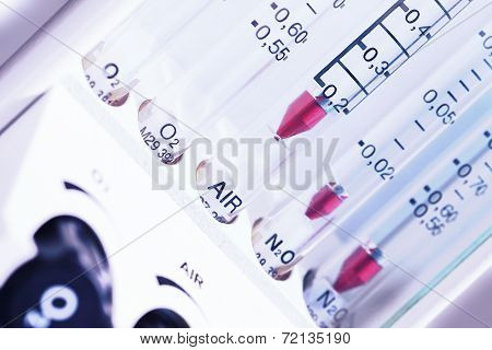 Medical Equipment. The Gas Rotameter
