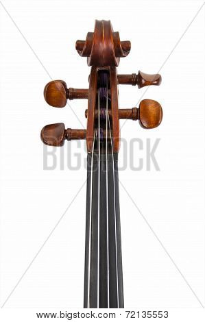 Violin scroll isolated on white
