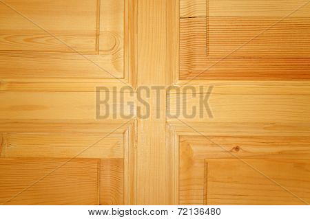 The Texture Of The New Unpainted Wooden Door As Background