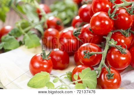Portion Of Fresh Cherry Tomatoes