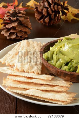 Flatbread Crackers And Guacamole