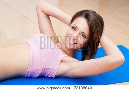 Sexy Woman Fitness Abdominal Exercises