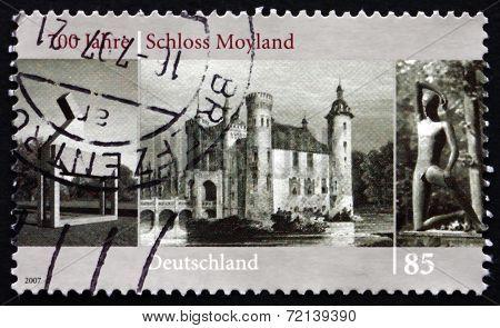 Postage Stamp Germany 2007 Moyland Castle