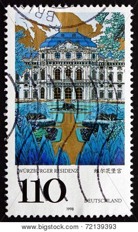 Postage Stamp Germany 1998 Wurzburg Palace