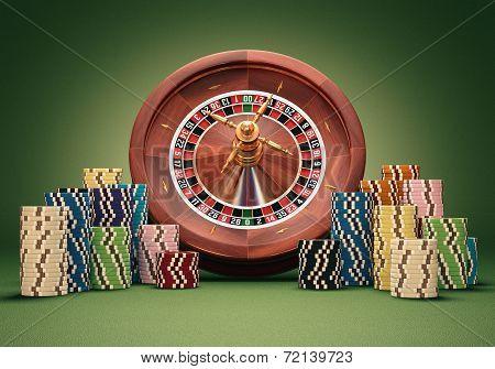 Roulette Wheel Chips